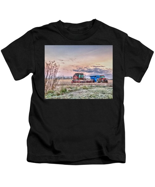 Frosty Farm Morning Kids T-Shirt