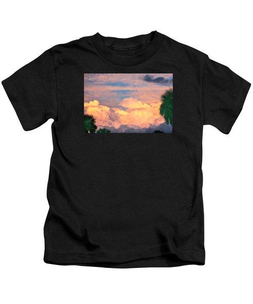Ft De Soto Sunset Clouds Kids T-Shirt