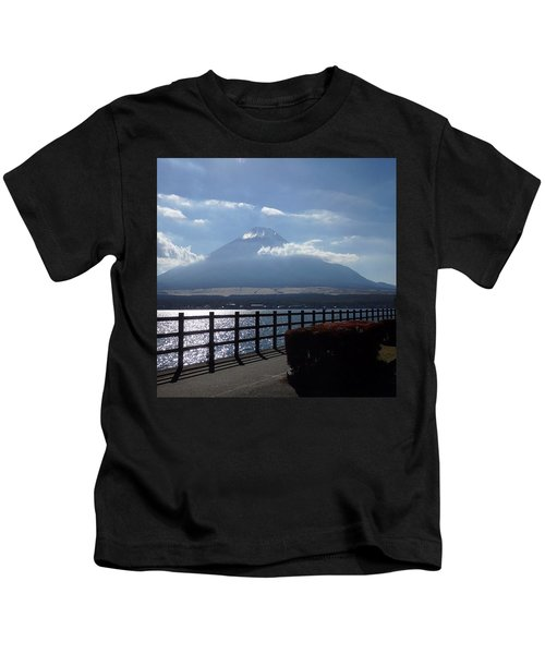 Fuji From Lake Yamanaka Kids T-Shirt