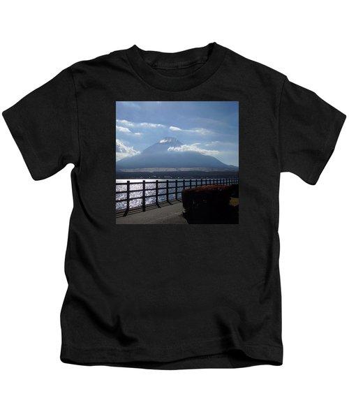 Fuji From Lake Yamanaka Kids T-Shirt