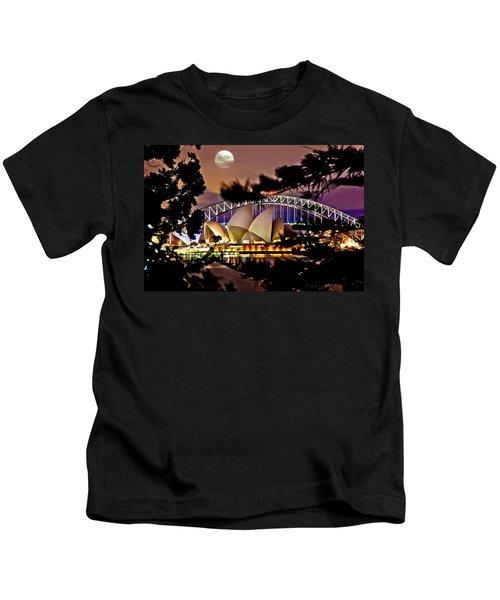 Full Moon Above Kids T-Shirt