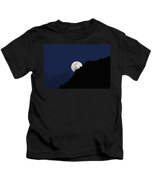 Full Moon Behind Makapu'u Kids T-Shirt