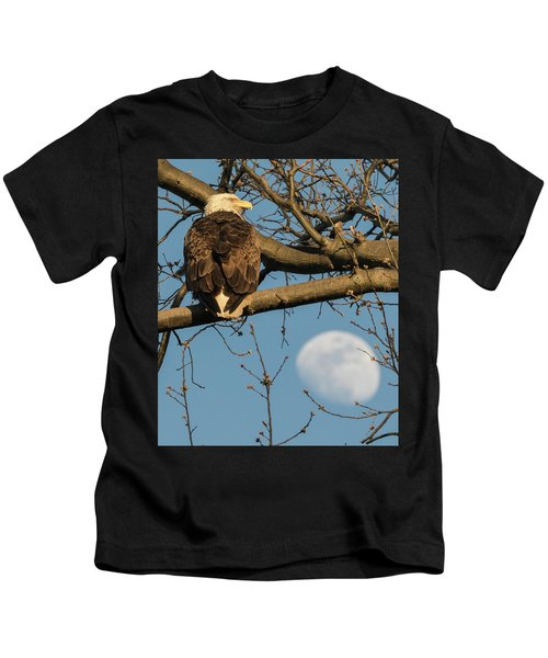 Full Moon Eagle  Kids T-Shirt