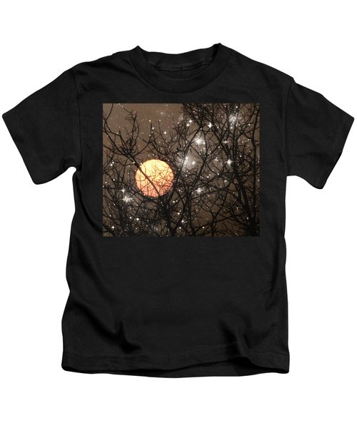 Full Moon Starry Night Kids T-Shirt