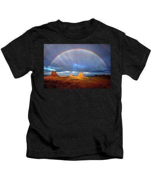 Full Rainbow Over The Mittens Kids T-Shirt