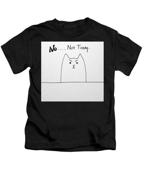 Funny Cute Slogan Doodle Cat  Kids T-Shirt