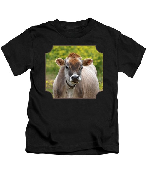 Funny Jersey Cow - Horizontal Kids T-Shirt