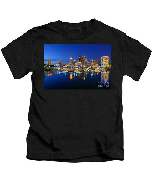Fx2l531 Columbus Ohio Skyline Photo Kids T-Shirt