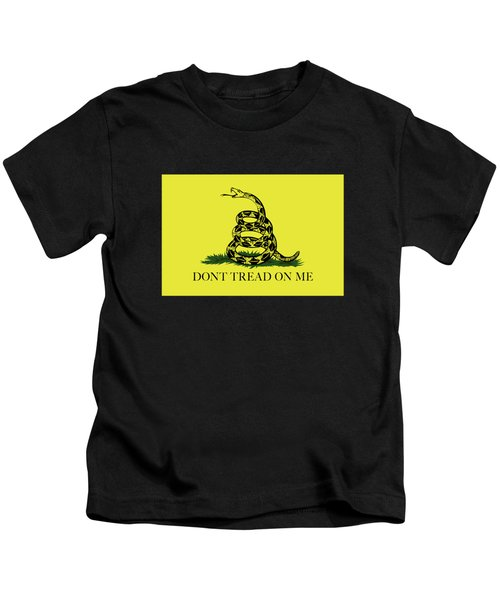 Gadsden Dont Tread On Me Flag Authentic Version Kids T-Shirt by Bruce Stanfield
