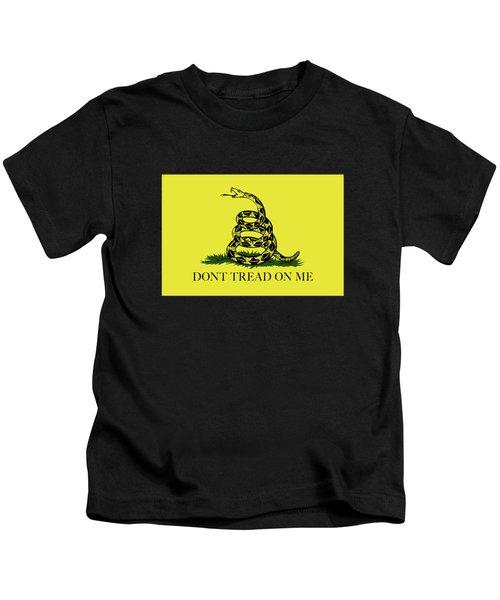 Gadsden Dont Tread On Me Flag Authentic Version Kids T-Shirt