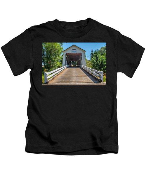 Gallon House Covered Bridge Kids T-Shirt