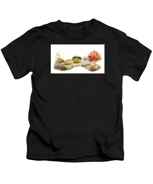 Garden Wild Flowers Watercolor Kids T-Shirt