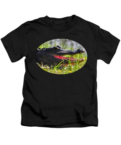 Gator Grin .png Kids T-Shirt by Al Powell Photography USA