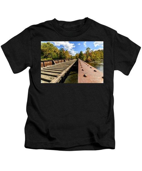 Gauley River Railroad Trestle Kids T-Shirt