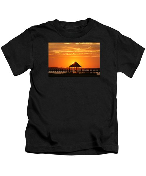 Gazebo Sunset Kids T-Shirt