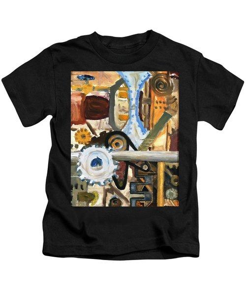 Gears In The Machine Kids T-Shirt