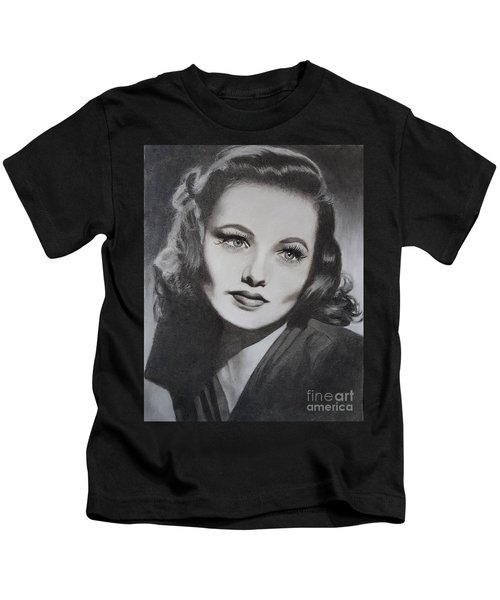 Gene Tierney  Kids T-Shirt