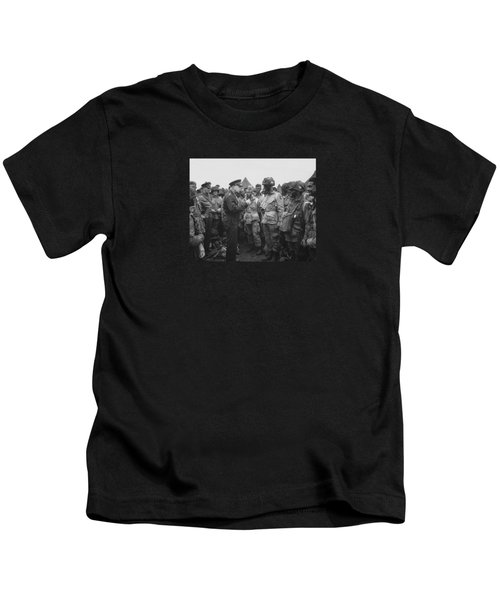 General Eisenhower On D-day  Kids T-Shirt by War Is Hell Store