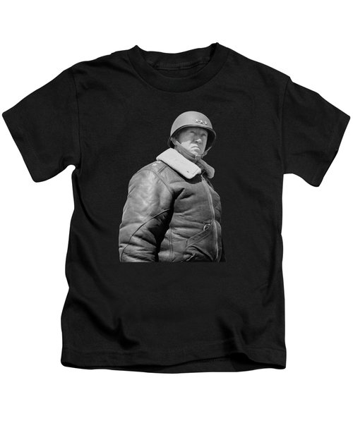 General George S. Patton Kids T-Shirt by War Is Hell Store