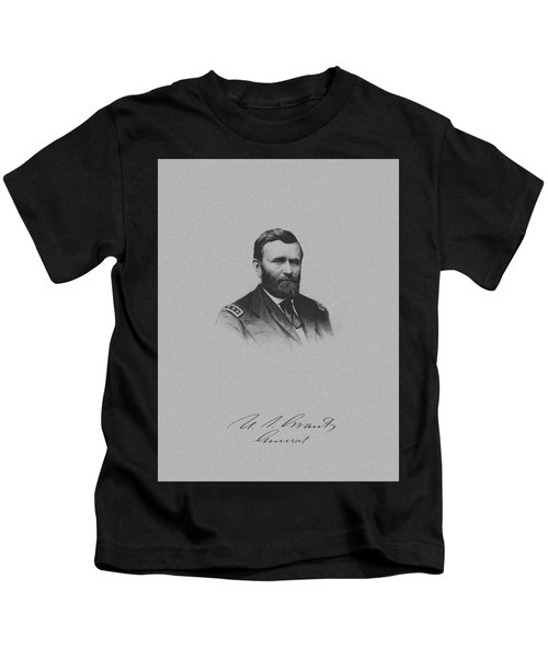 General Ulysses Grant And His Signature Kids T-Shirt