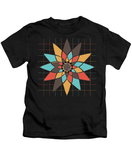 Geometric Flower Kids T-Shirt