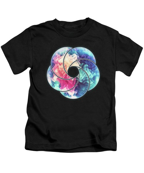 Geometry Triangle Wave Multicolor Mosaic Pattern Hdr   Low Poly Art  Kids T-Shirt