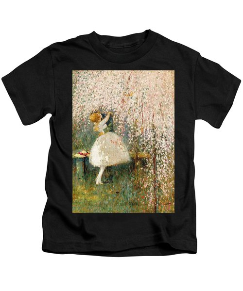 Georges Picard French 1857 1946 Romance Under The Blossom Tree Kids T-Shirt
