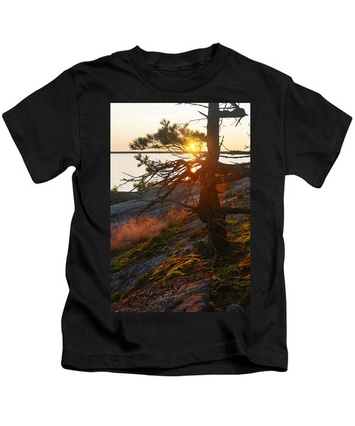 Georgian Bay Sunrise Wild Grass Kids T-Shirt