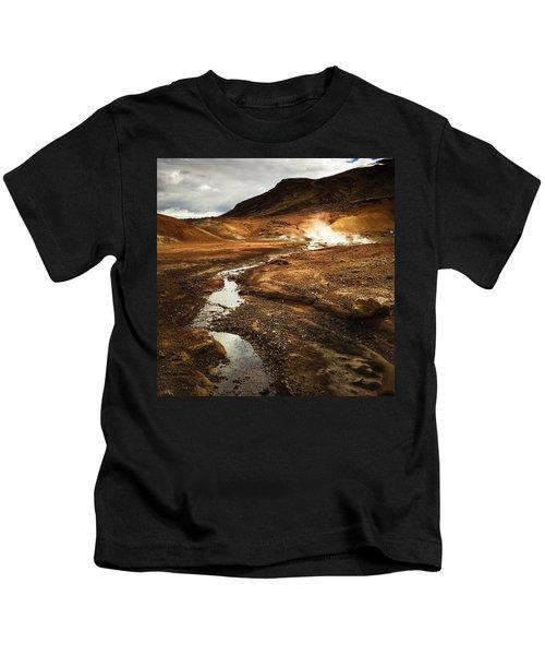 Geothermal Area Krysuvik In Iceland Kids T-Shirt