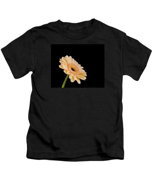 Gerbera Daisy On Black Kids T-Shirt