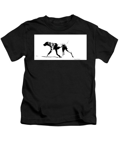 German Shorthair Pointer Gsp White And Black  Kids T-Shirt