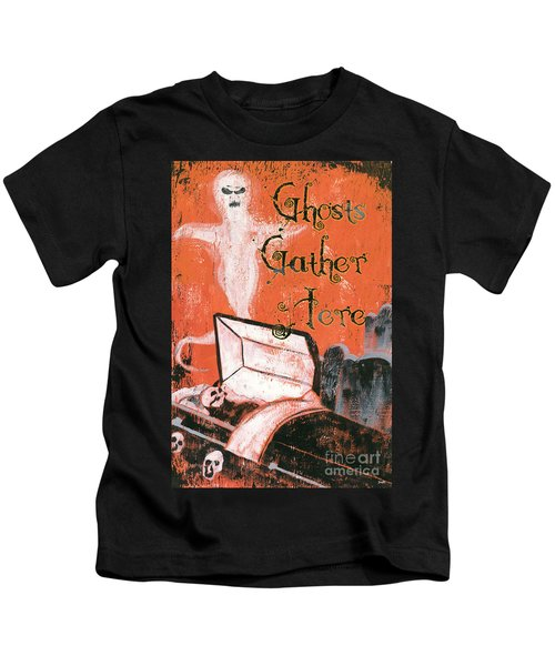 Ghosts Gather Here Kids T-Shirt