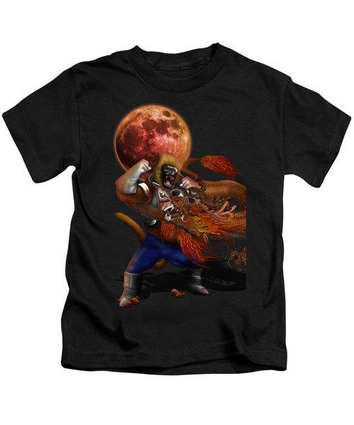 Giant Monkey Vs Shen Long Kids T-Shirt