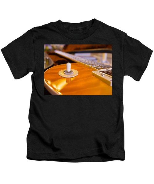 Yellow Quilt Guitar Top Kids T-Shirt