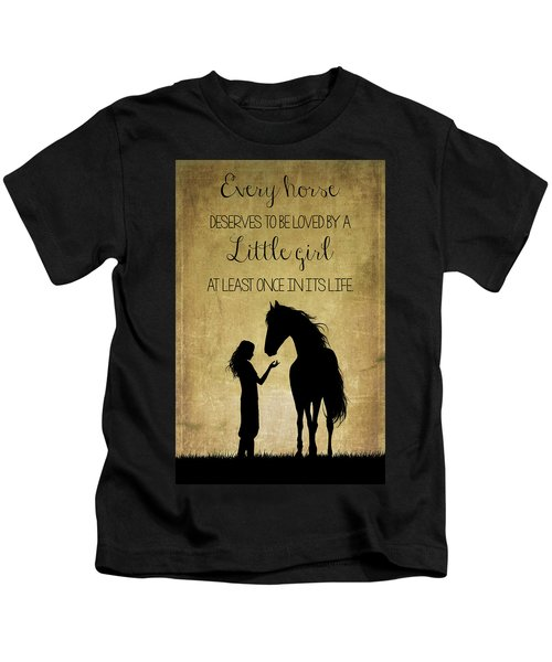 Girl And Horse Silhouette Kids T-Shirt