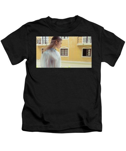 Girl In Profile Kids T-Shirt