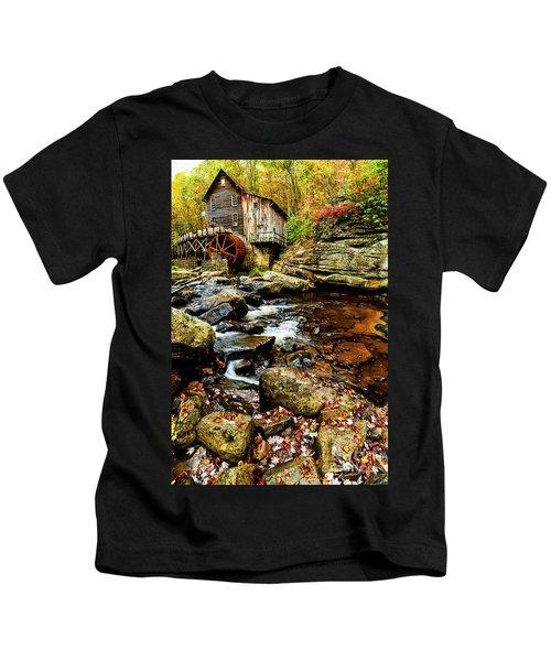 Glade Creek Grist Mill Fall  Kids T-Shirt
