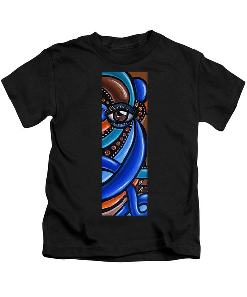 Abstract Eye Art Acrylic Eye Painting Surreal Colorful Chromatic Artwork Kids T-Shirt