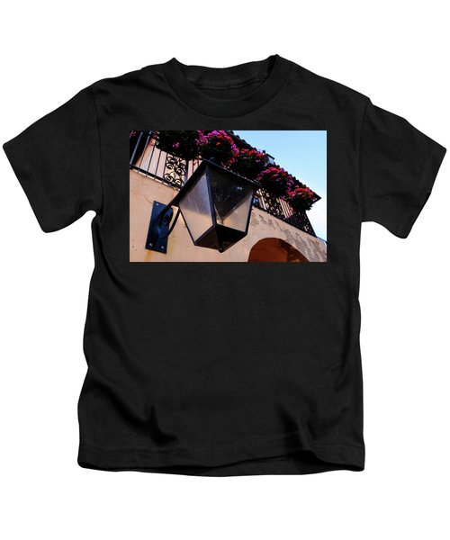 Glass Light Housing With Red Flower Architecture In Saint August Kids T-Shirt
