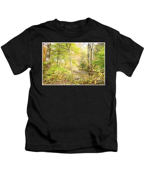 Glimpse Of A Stream In Autumn Kids T-Shirt