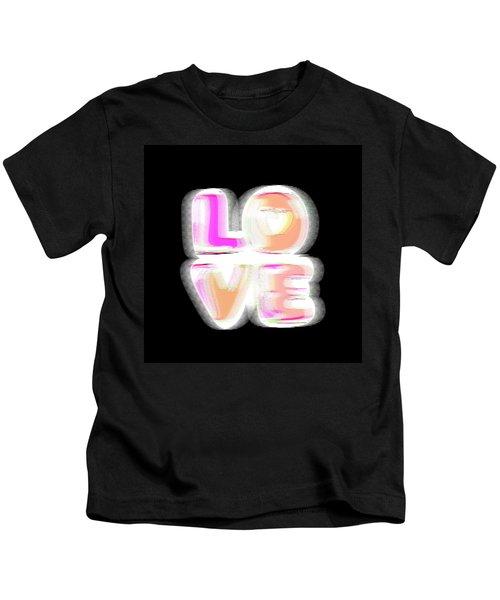 Glitch In Black Kids T-Shirt