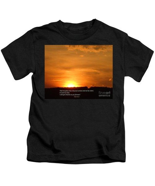 Glory And Thanks  Kids T-Shirt