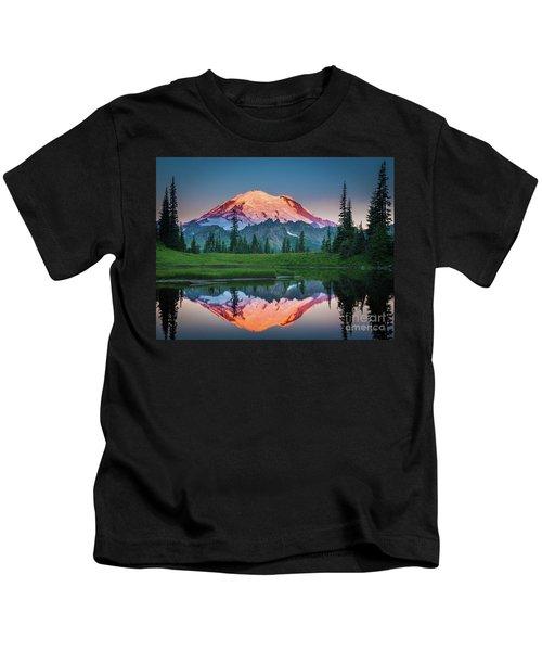 Glowing Peak - August Kids T-Shirt