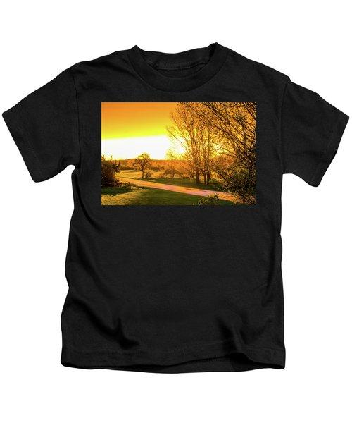 Glowing Sunset Kids T-Shirt