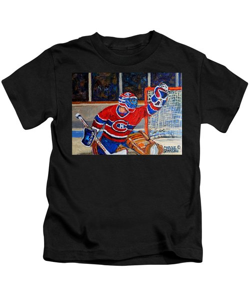 Goalie Makes The Save Stanley Cup Playoffs Kids T-Shirt