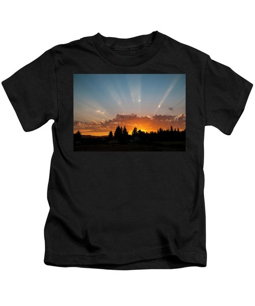 God Beams Kids T-Shirt