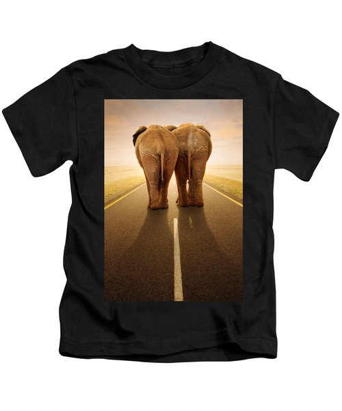 Going Away Together / Travelling By Road Kids T-Shirt