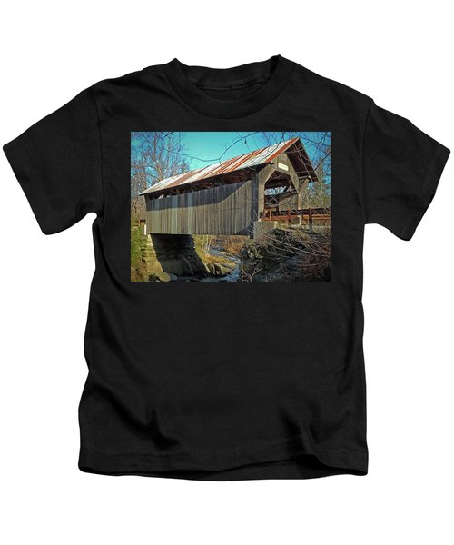 Gold Brook Bridge Kids T-Shirt