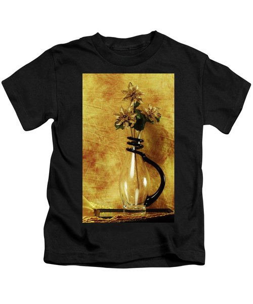 Gold Flowers In Vase Kids T-Shirt