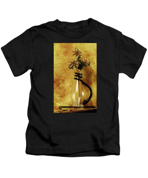 Gold Flowers In Vase Kids T-Shirt